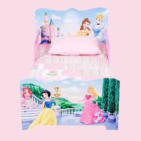 Disney Princess Wooden Toddler Bed with Safe Sleep Rails